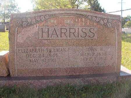 TILLMAN HARRISS, ELIZABETH - Webster County, Louisiana | ELIZABETH TILLMAN HARRISS - Louisiana Gravestone Photos