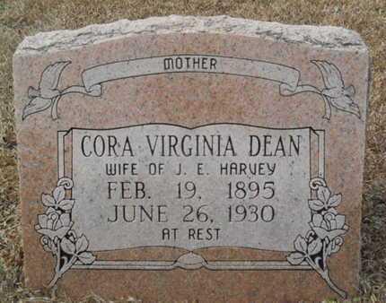 DEAN HARVEY, CORA VIRGINIA - Webster County, Louisiana | CORA VIRGINIA DEAN HARVEY - Louisiana Gravestone Photos