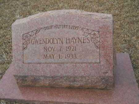 HAYNES, GWENDOLYN - Webster County, Louisiana | GWENDOLYN HAYNES - Louisiana Gravestone Photos