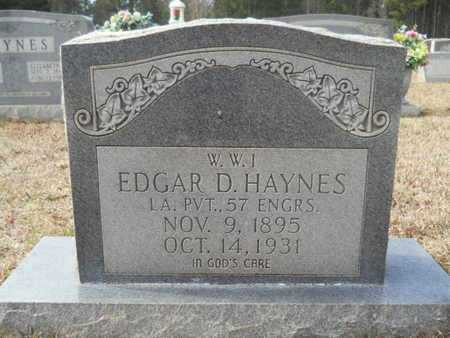 HAYNES, EDGAR D (VETERAN WWI) - Webster County, Louisiana | EDGAR D (VETERAN WWI) HAYNES - Louisiana Gravestone Photos
