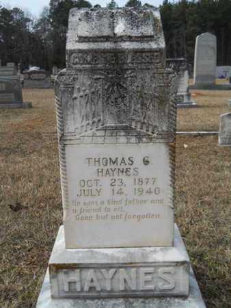 HAYNES, THOMAS G - Webster County, Louisiana | THOMAS G HAYNES - Louisiana Gravestone Photos
