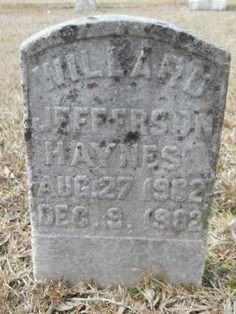 HAYNES, WILLARD JEFFERSON - Webster County, Louisiana | WILLARD JEFFERSON HAYNES - Louisiana Gravestone Photos