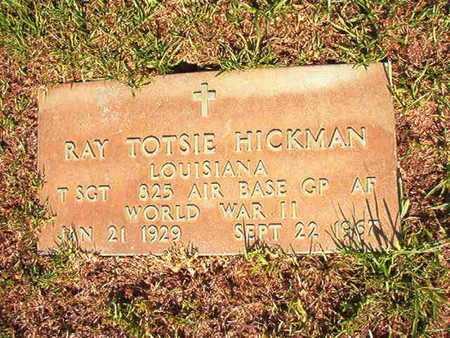 HICKMAN, RAY TOTSIE (VETERAN WWII) - Webster County, Louisiana | RAY TOTSIE (VETERAN WWII) HICKMAN - Louisiana Gravestone Photos