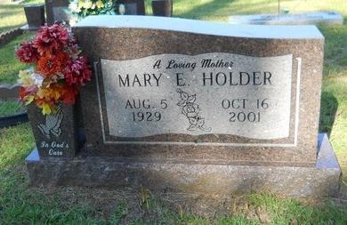 HOLDER, MARY E - Webster County, Louisiana | MARY E HOLDER - Louisiana Gravestone Photos