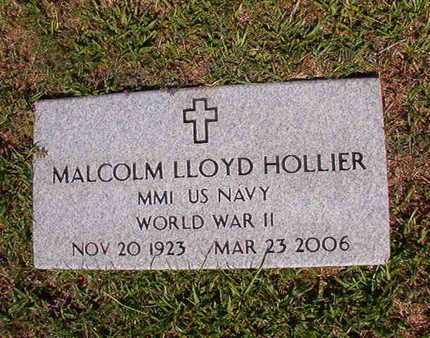 HOLLIER, MALCOLM LLOYD (VETERAN WWII) - Webster County, Louisiana | MALCOLM LLOYD (VETERAN WWII) HOLLIER - Louisiana Gravestone Photos