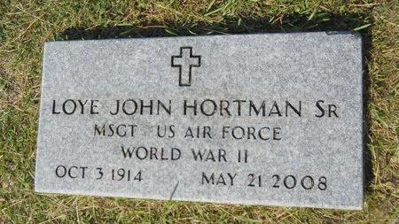 HORTMAN, LOYE JOHN, SR (VETERAN WWII) - Webster County, Louisiana   LOYE JOHN, SR (VETERAN WWII) HORTMAN - Louisiana Gravestone Photos
