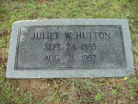 HUTTON, JULIET W - Webster County, Louisiana | JULIET W HUTTON - Louisiana Gravestone Photos