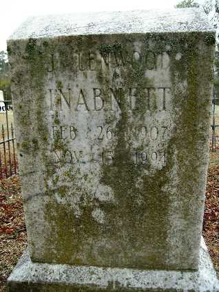 INABNETT, J LENWOOD - Webster County, Louisiana | J LENWOOD INABNETT - Louisiana Gravestone Photos