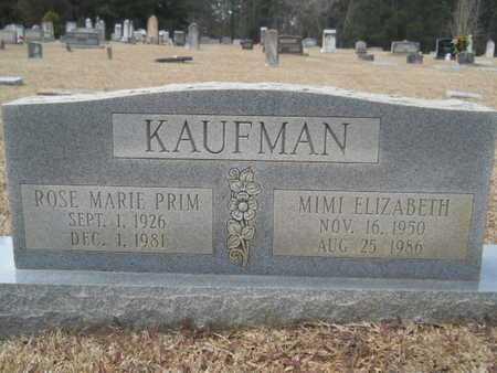 PRIM KAUFMAN, ROSE MARIE - Webster County, Louisiana | ROSE MARIE PRIM KAUFMAN - Louisiana Gravestone Photos