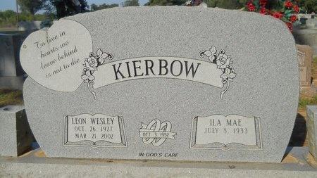 KIERBOW, LEON WESLEY - Webster County, Louisiana   LEON WESLEY KIERBOW - Louisiana Gravestone Photos