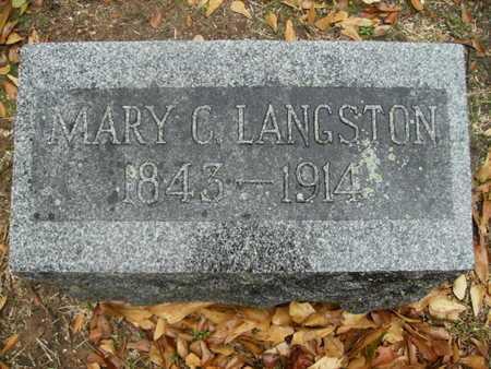 LANGSTON, MARY C - Webster County, Louisiana   MARY C LANGSTON - Louisiana Gravestone Photos