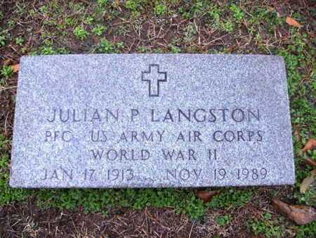 LANGSTON, JULIAN P (VETERAN WWII) - Webster County, Louisiana | JULIAN P (VETERAN WWII) LANGSTON - Louisiana Gravestone Photos