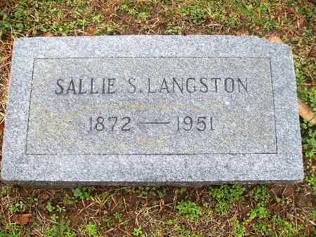 LANGSTON, SALLIE - Webster County, Louisiana   SALLIE LANGSTON - Louisiana Gravestone Photos