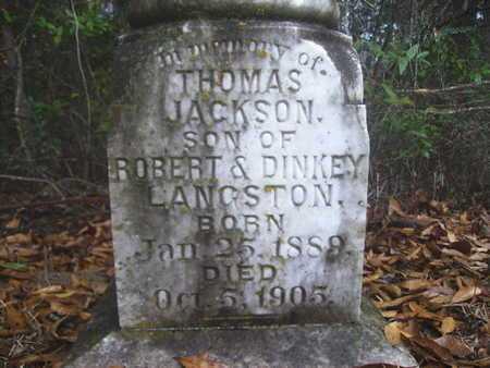LANGSTON, THOMAS JACKSON - Webster County, Louisiana   THOMAS JACKSON LANGSTON - Louisiana Gravestone Photos