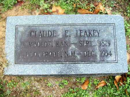 LEAKEY, CLAUDE E - Webster County, Louisiana | CLAUDE E LEAKEY - Louisiana Gravestone Photos