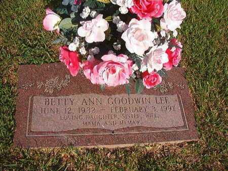 LEE, BETTY ANN - Webster County, Louisiana | BETTY ANN LEE - Louisiana Gravestone Photos