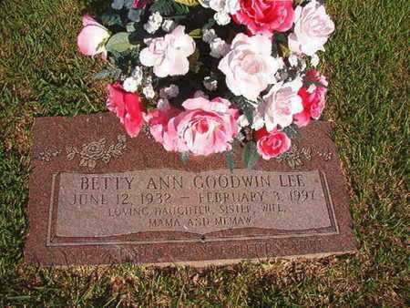 GOODWIN LEE, BETTY ANN - Webster County, Louisiana | BETTY ANN GOODWIN LEE - Louisiana Gravestone Photos