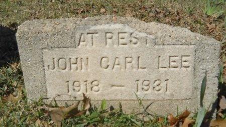 LEE, JOHN CARL - Webster County, Louisiana | JOHN CARL LEE - Louisiana Gravestone Photos