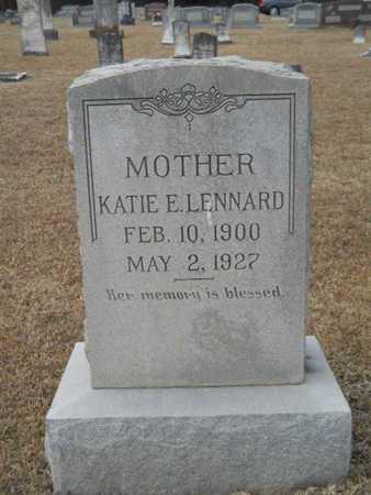 HORTMAN LENNARD, KATIE E - Webster County, Louisiana | KATIE E HORTMAN LENNARD - Louisiana Gravestone Photos