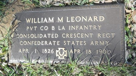 LEONARD, WILLIAM M (VETERAN CSA) - Webster County, Louisiana | WILLIAM M (VETERAN CSA) LEONARD - Louisiana Gravestone Photos