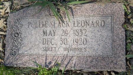 SLACK LEONARD, POLLIE - Webster County, Louisiana   POLLIE SLACK LEONARD - Louisiana Gravestone Photos