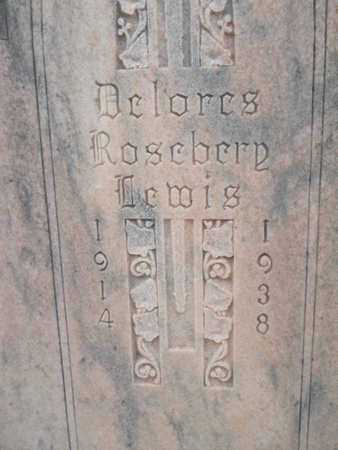 ROSEBERY LEWIS, DELORES (CLOSE UP) - Webster County, Louisiana | DELORES (CLOSE UP) ROSEBERY LEWIS - Louisiana Gravestone Photos