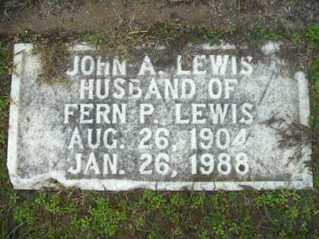 LEWIS, JOHN A - Webster County, Louisiana | JOHN A LEWIS - Louisiana Gravestone Photos