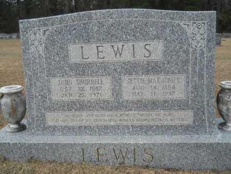 O'BIER LEWIS, JETTIE MAE - Webster County, Louisiana | JETTIE MAE O'BIER LEWIS - Louisiana Gravestone Photos