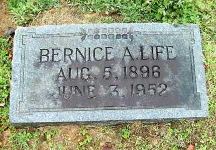 LIFE, BERNICE A - Webster County, Louisiana | BERNICE A LIFE - Louisiana Gravestone Photos