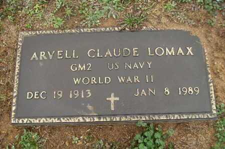 LOMAX, ARVELL CLAUDE (VETERAN WWII) - Webster County, Louisiana   ARVELL CLAUDE (VETERAN WWII) LOMAX - Louisiana Gravestone Photos