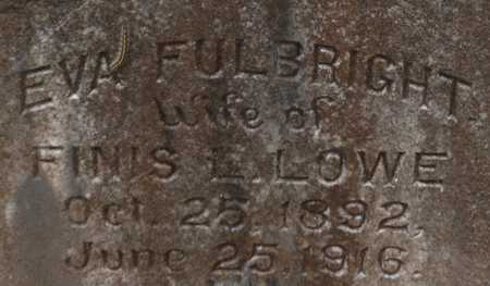 FULLBRIGHT LOWE, EVA (CLOSE UP) - Webster County, Louisiana | EVA (CLOSE UP) FULLBRIGHT LOWE - Louisiana Gravestone Photos