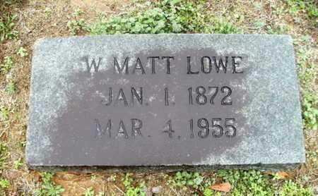 LOWE, W MATT - Webster County, Louisiana   W MATT LOWE - Louisiana Gravestone Photos