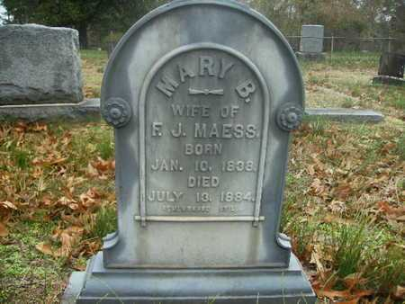 MAESS, MARY B - Webster County, Louisiana | MARY B MAESS - Louisiana Gravestone Photos