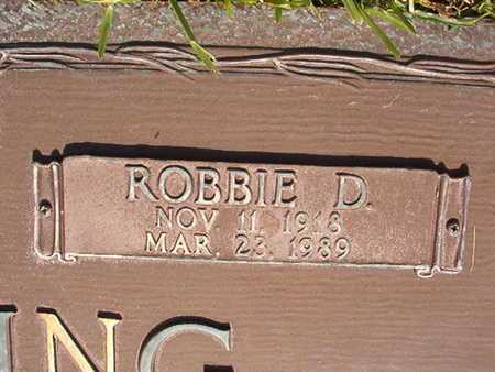 MANNING, ROBBIE D (CLOSE UP) - Webster County, Louisiana | ROBBIE D (CLOSE UP) MANNING - Louisiana Gravestone Photos