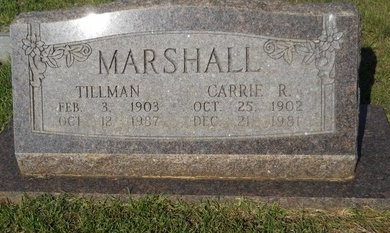 MARSHALL, TILLMAN - Webster County, Louisiana | TILLMAN MARSHALL - Louisiana Gravestone Photos