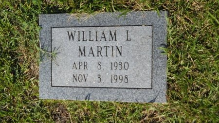MARTIN, WILLIAM L - Webster County, Louisiana | WILLIAM L MARTIN - Louisiana Gravestone Photos