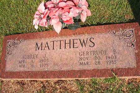 MATTHEWS, GERTRUDE B - Webster County, Louisiana | GERTRUDE B MATTHEWS - Louisiana Gravestone Photos