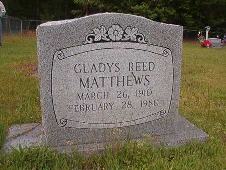 REED MATTHEWS, GLADYS - Webster County, Louisiana | GLADYS REED MATTHEWS - Louisiana Gravestone Photos
