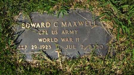 MAXWELL, EDWARD C (VETERAN WWII) - Webster County, Louisiana   EDWARD C (VETERAN WWII) MAXWELL - Louisiana Gravestone Photos