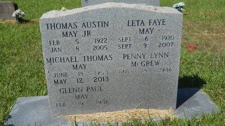 MAY, LETA FAYE - Webster County, Louisiana   LETA FAYE MAY - Louisiana Gravestone Photos