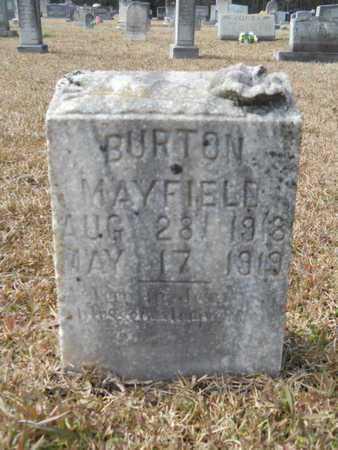 MAYFIELD, BURTON - Webster County, Louisiana | BURTON MAYFIELD - Louisiana Gravestone Photos