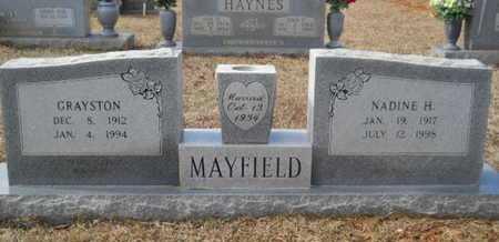 MAYFIELD, GRAYSTON - Webster County, Louisiana | GRAYSTON MAYFIELD - Louisiana Gravestone Photos