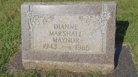 MARSHALL MAYNOR, DIANNE - Webster County, Louisiana | DIANNE MARSHALL MAYNOR - Louisiana Gravestone Photos