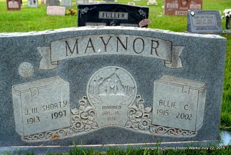 MAYNOR, ALLIE A - Webster County, Louisiana | ALLIE A MAYNOR - Louisiana Gravestone Photos