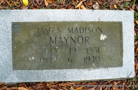 MAYNOR, JAMES MADISON - Webster County, Louisiana | JAMES MADISON MAYNOR - Louisiana Gravestone Photos