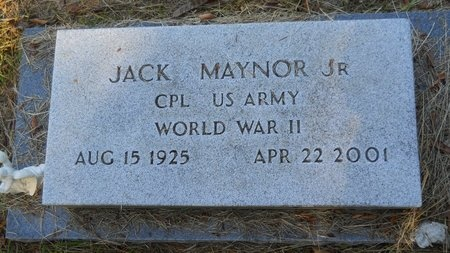 MAYNOR, JACK, JR (VETERAN WWII) - Webster County, Louisiana | JACK, JR (VETERAN WWII) MAYNOR - Louisiana Gravestone Photos