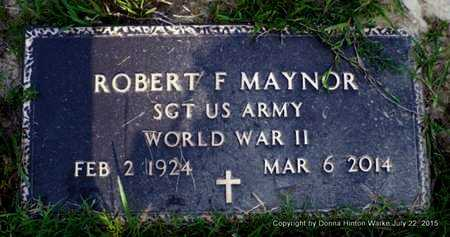 MAYNOR, ROBERT FRANKLIN (VETERAN WWII) - Webster County, Louisiana | ROBERT FRANKLIN (VETERAN WWII) MAYNOR - Louisiana Gravestone Photos