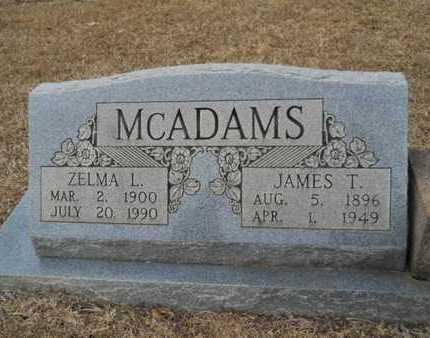 MCADAMS, JAMES T - Webster County, Louisiana | JAMES T MCADAMS - Louisiana Gravestone Photos