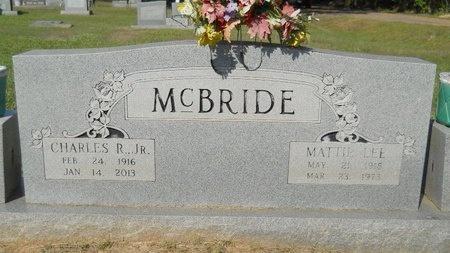 MCBRIDE, CHARLES R, JR - Webster County, Louisiana | CHARLES R, JR MCBRIDE - Louisiana Gravestone Photos
