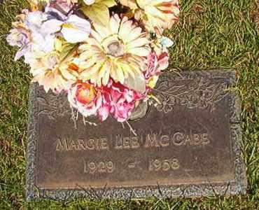 MCCABE, MARGIE LEE - Webster County, Louisiana | MARGIE LEE MCCABE - Louisiana Gravestone Photos